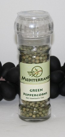 Green Peppercorns in 2 oz grinder